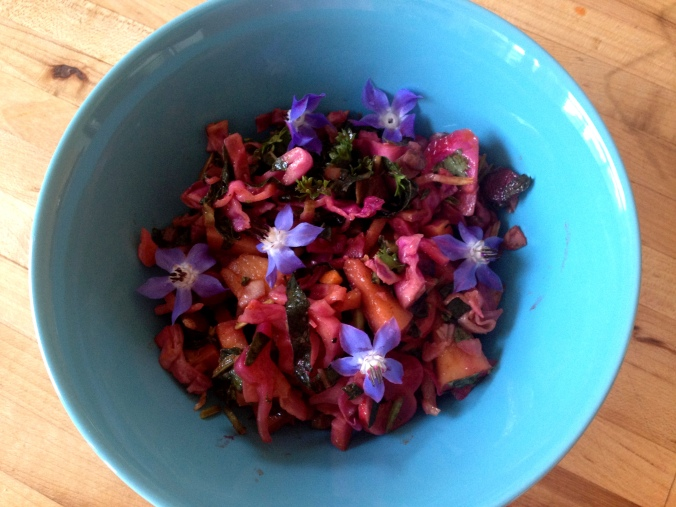 Make it a true full-spectrum dish with a garnish of sky-blue borage flowers.